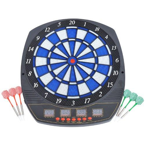 HOMCOM 27 GAMES DART BOARD ELECTRONIC DARTBOARD LED DIGITAL SCORE DISPLAY SOFT TIP SPEAKER SOUND WITH DARTS