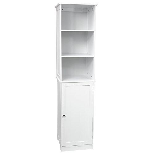 Home Discount Priano Bathroom Cabinet Storage Cupboard Floor Standing Tallboy Unit, White