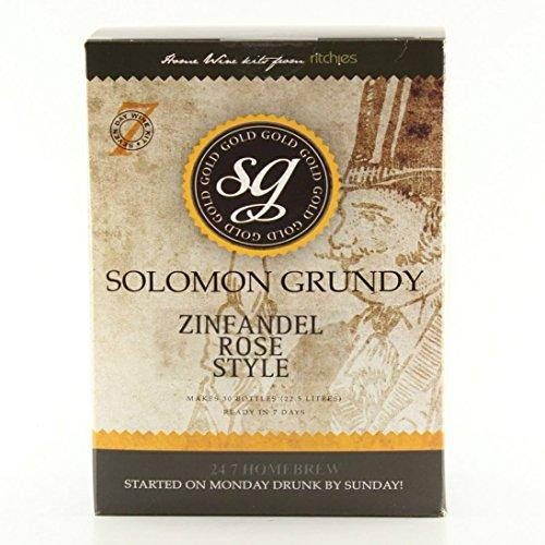 Home Made Wine Kit - Solomon Grundy Gold Zinfandel Rosé - 30 Bottles