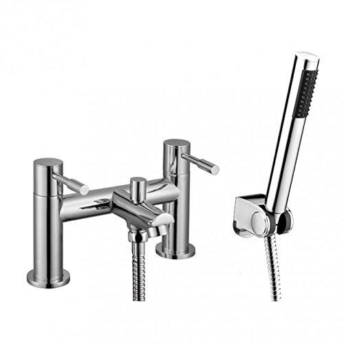 Home Standard Aspen Bathroom Chrome Bath Shower Mixer Filler Tap & Shower Kit