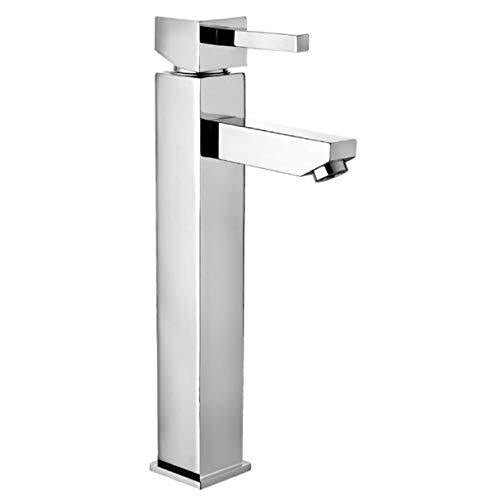 Home Standard® Cube Bathroom Single Lever High Rise Mono Basin Sink Mixer Tap with Slotted Spring Waste | Chrome | 10 Year Guarantee