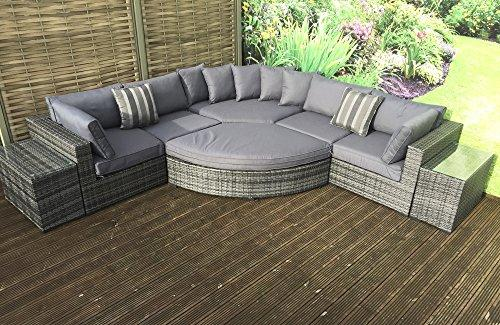 homeflair rattan Garden Furniture Jessica grey modular corner sofa £1249