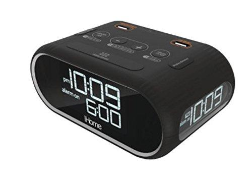 Homitem HEDY4LESS LCD Triple Display Alarm Clock with Dual USB Charging
