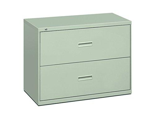 Hon Filing Cabinet - 400 Series Two-Drawer Lateral File Cabinet, 36w x 19-1/4d x 528-3/8h, Light Gray (434LQ)