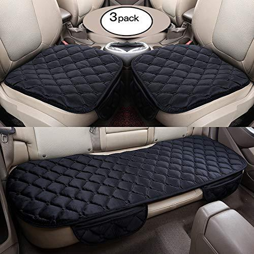 HONCENMAX Soft Car seat Cover Cushion Pad Mat Protector for Auto Supplies for Sedan Hatchback SUV - 2+1 Front Seat Covers & Rear Seat Covers