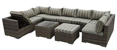 HongTeng Combination Diverse Rattan Garden Furniture Set Sofa Modular Setting 9 Outdoor Greenhouse (color : B)