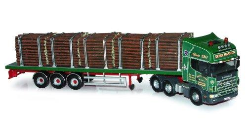 Hornby Corgi CC12942 1:50 Scale Scania Topline + Flatbed Trailer + Log Load - Derek Marston Road Transport Hauliers Of Renown Limited Edition