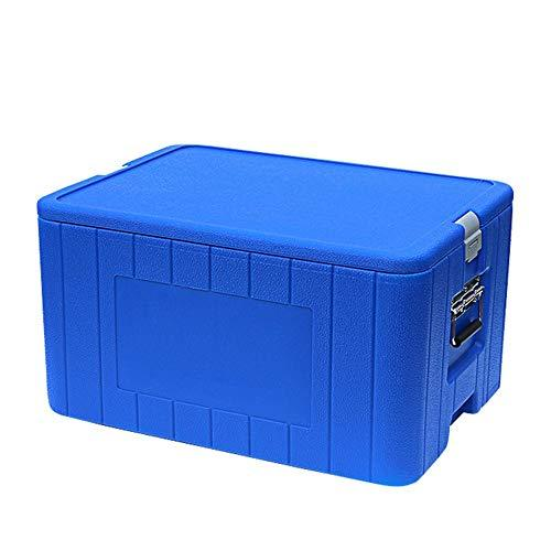 Hot or Cold Cool Box Food Incubator Freezer Commercial Fresh Box Outdoor Fishing Box Takeaway Box Delivery Box For Camping, Caravans, Picnics and Festivals ( Color : Blue , Size : 63*49*39.5cm )