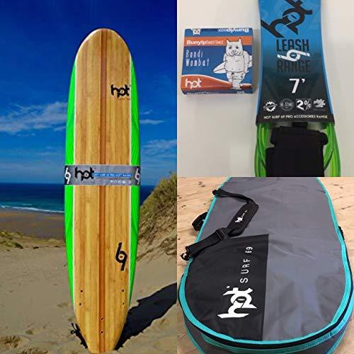 "Hotsurf 69 7"" 0 Softboard Beginners Surfboard Package Deal"