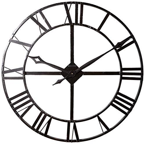 Howard Miller 625-372 Lacy Gallery Wall Clock, Wood, Dark Charcoal Grey, 6x91x91 cm