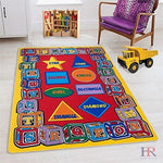 HR'S 8FTX11FT KIDS EDUCATIONAL/PLAYTIME RUG 7FT.4INX10FT.4IN (ABC SHAPES)PLEASE CHECK ALL PICTURES