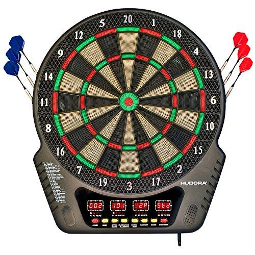 Hudora Unisex Adult LED 04 Electronic Dartboard - Multicolour, One Size