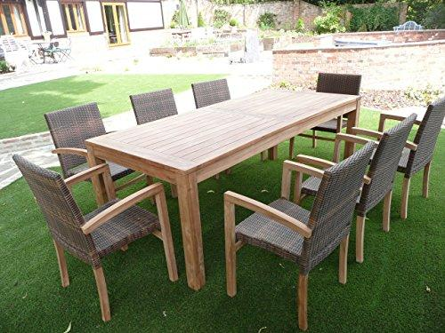 Humber Imports Cannes Teak & Rattan Luxury Outdoor Dining