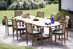 Humber Imports Oval or Rectangular Garden Furniture 8 Seat Sets (Deauville 10 Foot Oval Table 8 Stacking Chairs)