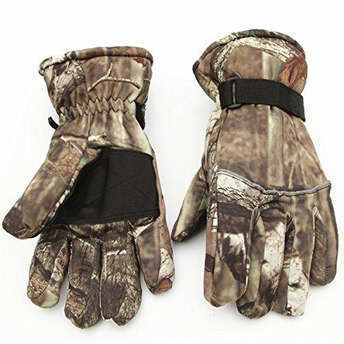 Huntvp Lightweight Camouflage Hunting Gloves Breathable Windproof Warm Skiing Snowboard Gloves WR