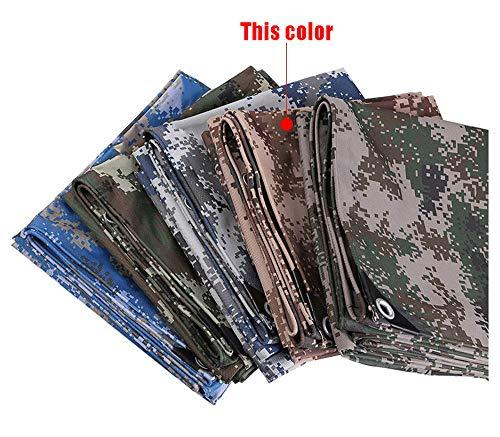 HWTtarp Camo Tarp,Camouflage Tarpaulin,Ideal for Car Pool Machine Cover,Canopy, Wind Protector, Privacy Wall, Picnic Mat,Boat Cover, Fishing,Caravans,Multi-Size Options, Desert Color (Size : 6 * 10m)