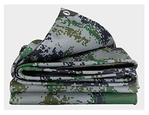 HWTtarp Camo Tarp,Camouflage Tarpaulin,Ideal for Car Pool Machine Cover,Canopy, Wind Protector, Privacy Wall, Picnic Mat,Boat Cover, Fishing,Caravans,Multi-Size Options, Jungle Color (Size : 6 * 7m)