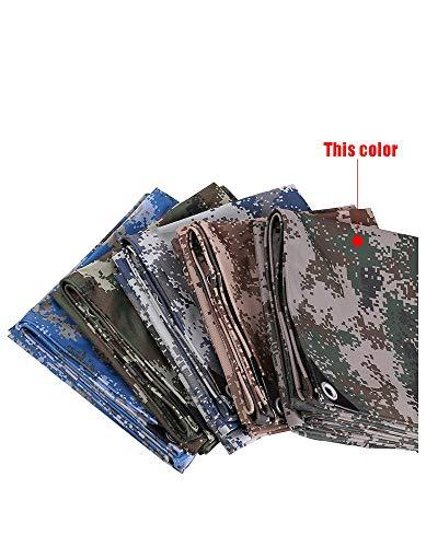 HWTtarp Camo Tarp,Camouflage Tarpaulin,Ideal for Car Pool Machine Cover,Canopy, Wind Protector, Privacy Wall, Picnic Mat,Boat Cover, Fishing,Caravans,Multi-Size Options, Jungle Color (Size : 7 * 7m)