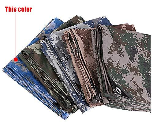 HWTtarp Camo Tarp,Camouflage Tarpaulin,Ideal for Car Pool Machine Cover,Canopy, Wind Protector, Privacy Wall, Picnic Mat,Boat Cover, Fishing,Caravans,Multi-Size Options, Ocean Marine Blue Color