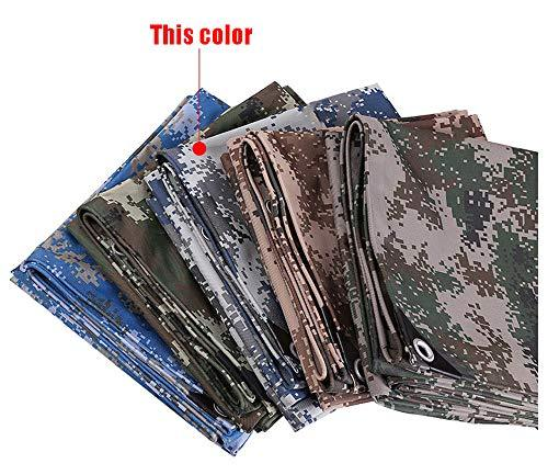 HWTtarp Camo Tarp,Camouflage Tarpaulin,Ideal for Car Pool Machine Cover,Canopy, Wind Protector, Privacy Wall, Picnic Mat,Boat Cover, Fishing,Caravans,Multi-Size Options, Sky Color (Size : 6 * 10m)