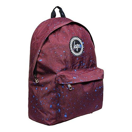 HYPE Speckle Paint Backpack - Burgundy/Blue
