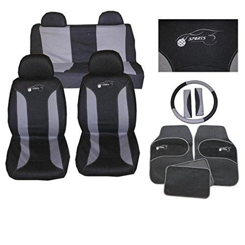 Hyundai i10 i20 Universal Car Seat Cover Set 15 Pieces Grey 305