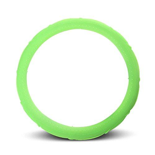 IAN ASJ Natural Silicone Sport Steering Wheel Cover Super Feel Skid Environmental Tasteless Silicone Universal Candy-colored (light green)