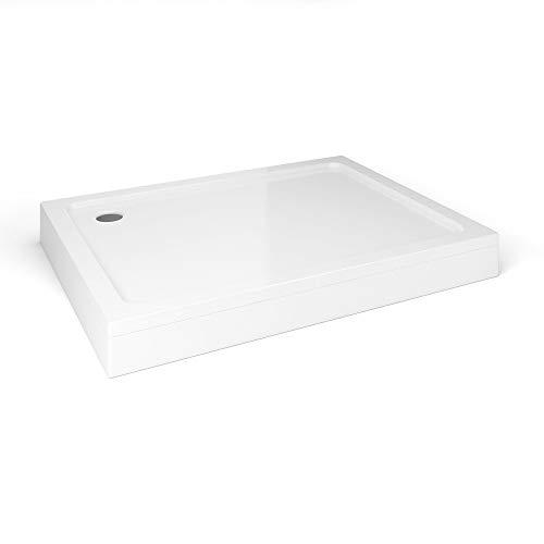 iBathUK Rectangular 900x760mm Stone Easy Plumb Shower Enclosure Tray with Legs & Panel
