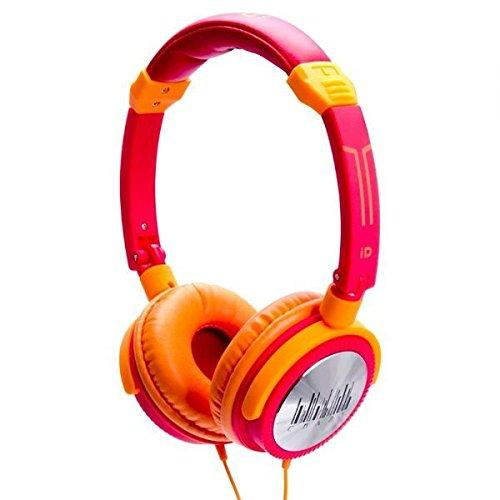 iDance Crazy301 Lifestyle DJ HeadPhones with Super Articulated Headband - Pink/Orange