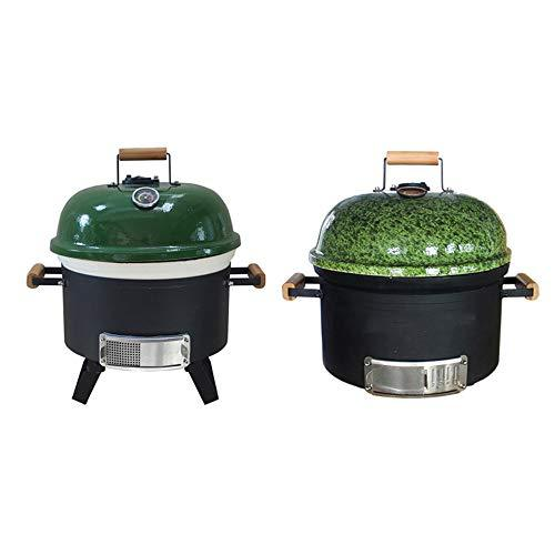 ILUVBBQ ceramic bbq grill outdoor pizza oven charcoal bbq grill