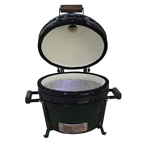ILUVBBQ Ceramic BBQ Grill Pizza Oven Charcoal Stove Pizza Oven Barbecue Grill For Ourdoor Camping Home Park