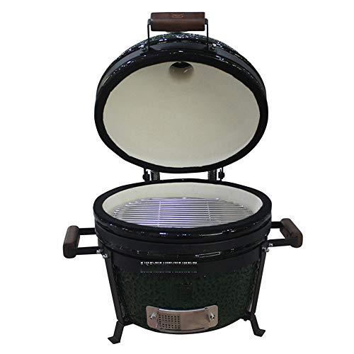 ILUVBBQ Ceramic Ourdoor BBQ Grill Charcoal Stove Portable Barbecue Grill Pizza Oven