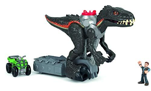 Imaginext Jurassic World Walking Indoraptor with ATV and Owen Figure with Lights and Sounds, Toy for Kids from 3 Years Old