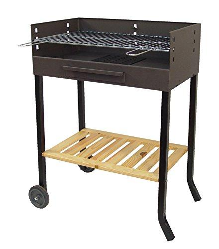 Imex The Fox 71405 – Barbecue with Wheels and Grill Iron, 88 x 68 x 40 cm