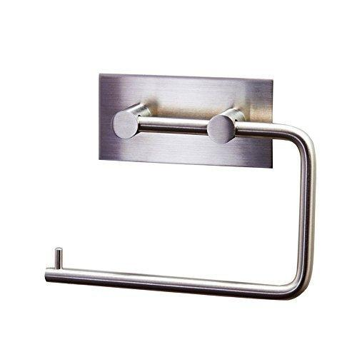 IMIEE Toilet Paper Holder with 3M Self Adhesive Super Load-Bearing Capacity, Brushed Stainless Steel