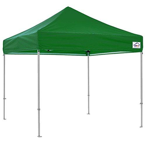 Impact Canopy 10x10 Canopy Pop Up Tent Replacement Top, Impact Canopies Instant Outdoor Shelter Replacement Top, Green