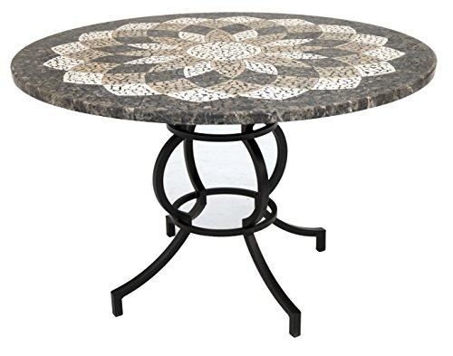 Impacterra QLHP5106587263 Hyperion Dining Table, Phantom/Sevilla Crest