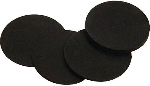 "Imperial Billiard/Pool Table Leveler: 3"" Diameter Rubber Shims, 1/4"" Thick, Bag of 25"