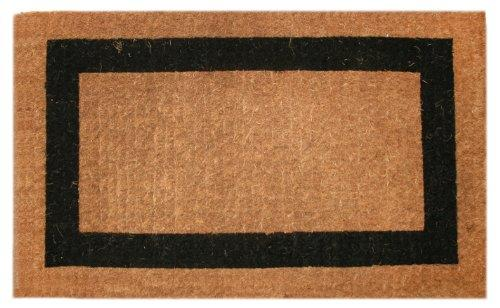 Imports Decor Printed Coir Doormat, Classic Single Black Border, 36-Inch by 60-Inch