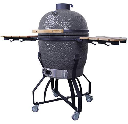 "iN Home Egg Outdoor 21"" BBQ Smoker Grill 