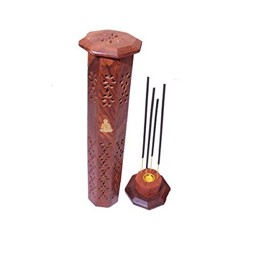 Incense Holders and Burners Wooden Incense Stick Stand Holder Handmade Ash Catcher (Design 3)