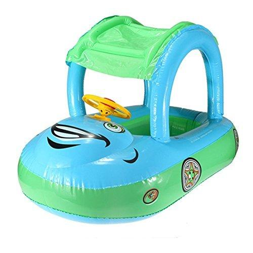 Inflatable Baby Float Seat Boat Tube Ring Car Sun Shade Swim Swimming Pool Water by Inflatable Baby Floats