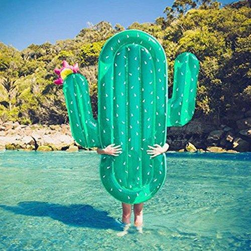 Inflatable Pool Toys Giant Inflatable Cactus Water Float Raft Summer Swim  Pool Lounger Beach Ring