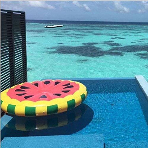 Inflatable Pool Toys Giant Inflatable Floating Bed Cartoon Watermelon  Floating Row Water Float Raft Summer Swim