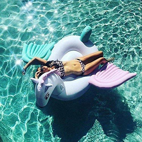 ... Inflatable Pool Toys Giant Inflatable Rainbow Pegasus Water Float Raft  Summer Swim Pool Lounger Beach Ring ...