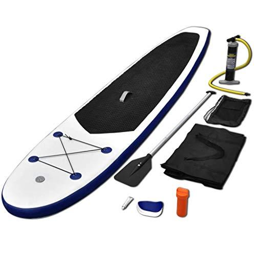 Inflatable Stand Up Surf board Paddleboard Set With Aluminium oar (185 cm), Removable fin,High Pressure Hand Pump with High Pressure Gauge,Repair kit, Carrying bag