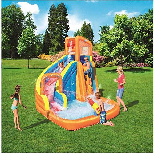 inflatable toys Summer New Oversized Water Slide Inflatable Swimming Pool, Baby Paddling Pool Ocean Ball Pool Outdoor Surfing Windsurfing, 365 * 320 * 270cm A