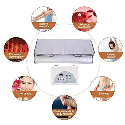 Infrared Blanket, Massage Mattress Heating Blanket Body Shape Slimming Fitness Machine for Spa Home Office Salon