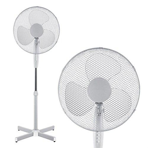 "Innova® 16"" Inch Cooling Pedestal Oscillating Fan Extendable Free Standing Tower 3 Speed (White)"