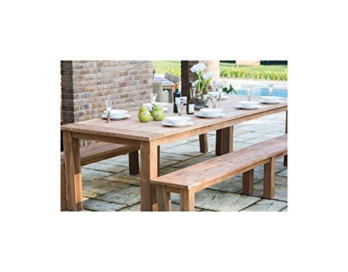 Inspiring Furniture LTD Reclaimed Teak Open Slatted Dining Table 3m Reclaimed Teak Open Slatted Backless Benches